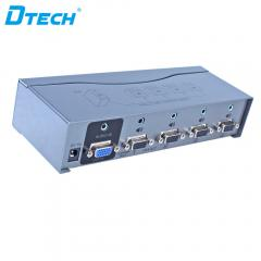 Latest DTECH DT-AU7504 500MHZ VGA SPLITTER 1X4 with audio Online