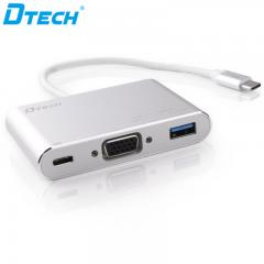 Hot Selling DTECH DT-T0023 TYPE-C TO VGA+PD+USB3.0 CONVERTER