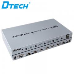 Latest DTECH DT-7444 4K*2K HDMI MATRIX SWITCH 4*4 Online